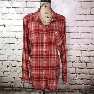 Natural Reflections Plaid Button Up